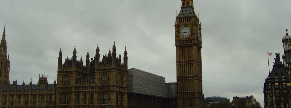 Big Ben and the grey skies of London