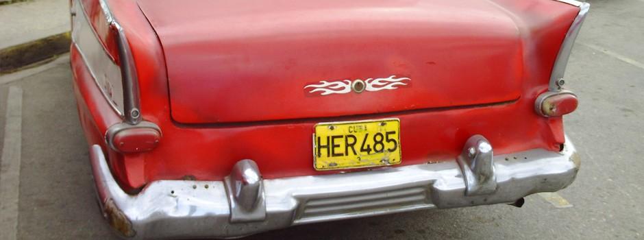 A red Chevvy in Havana, Cuba