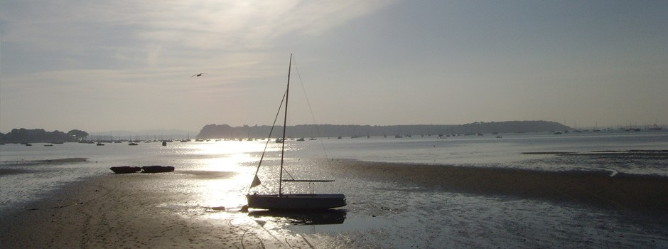 Sunset over Poole harbour in Dorset, 2008