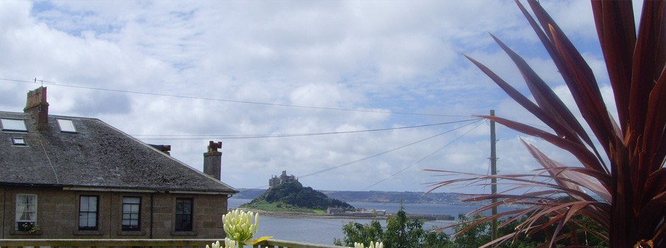 A view to St Michaels Mount in Cornwall